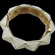 Kenneth Lane Bangle bracelet White enamel