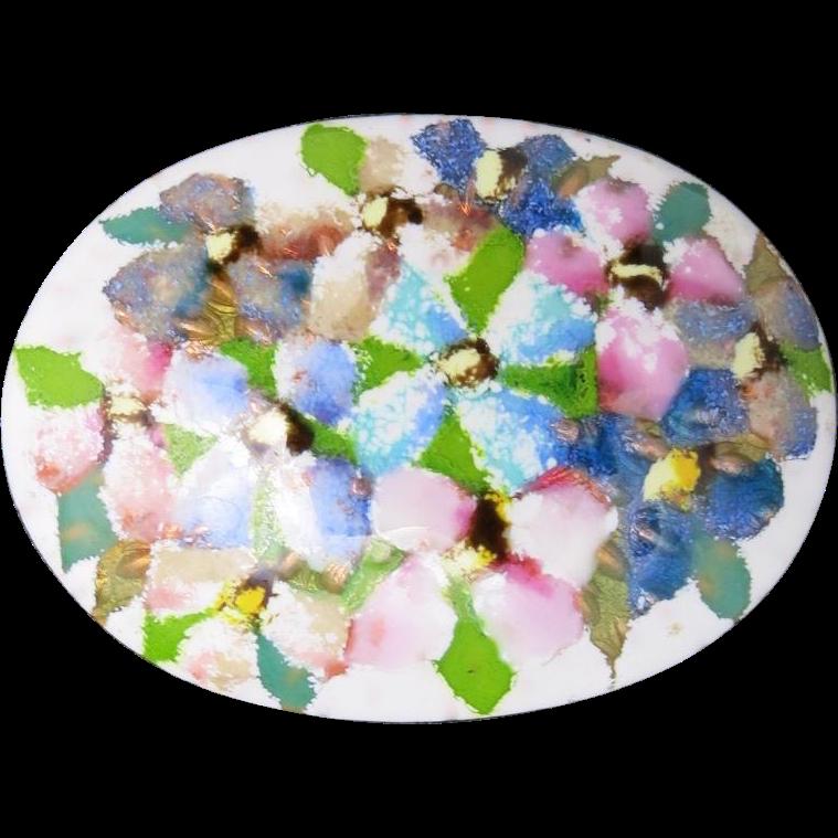 Japanese enamel pin floral bouquet beautiful pastel colors for Beautiful pastel colors