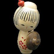 Japanese Kokeshi doll Turned Wood Doll