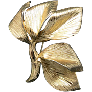 Grosse Germany Pin Gold plated Leaf Looks real