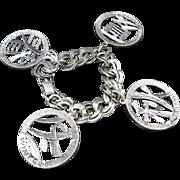 Napier bracelet Charms Asian Seasons Pewter tone metal