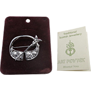 Celtic Pin Scottish Jewelry Penannular Cloak