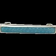Lingerie pin Sterling silver blue enamel 1900