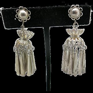 Sterling silver earrings Light weight dangles