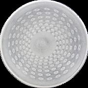 White Murano glass Platter Italian hand made Italy