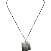 Mother of Pearl Pendant Sterling silver chain