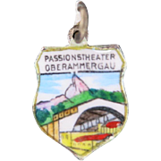 Oberammergau Charm Enamel shield Passion Theater
