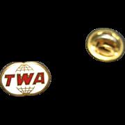 TWA Lapel Pin Trans World Airlines Aviation Tie Tack