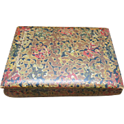 Japanese Lacquer box Small decorative Multi color