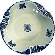 Vintage, Signed Delft Ashtray /Dutch Floral Motif; Mint Condition