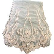 Vintage Lace Scarf/Dresser Runner; Mint Condition