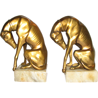 Greyhound Bookends Attr. JB Hirsch