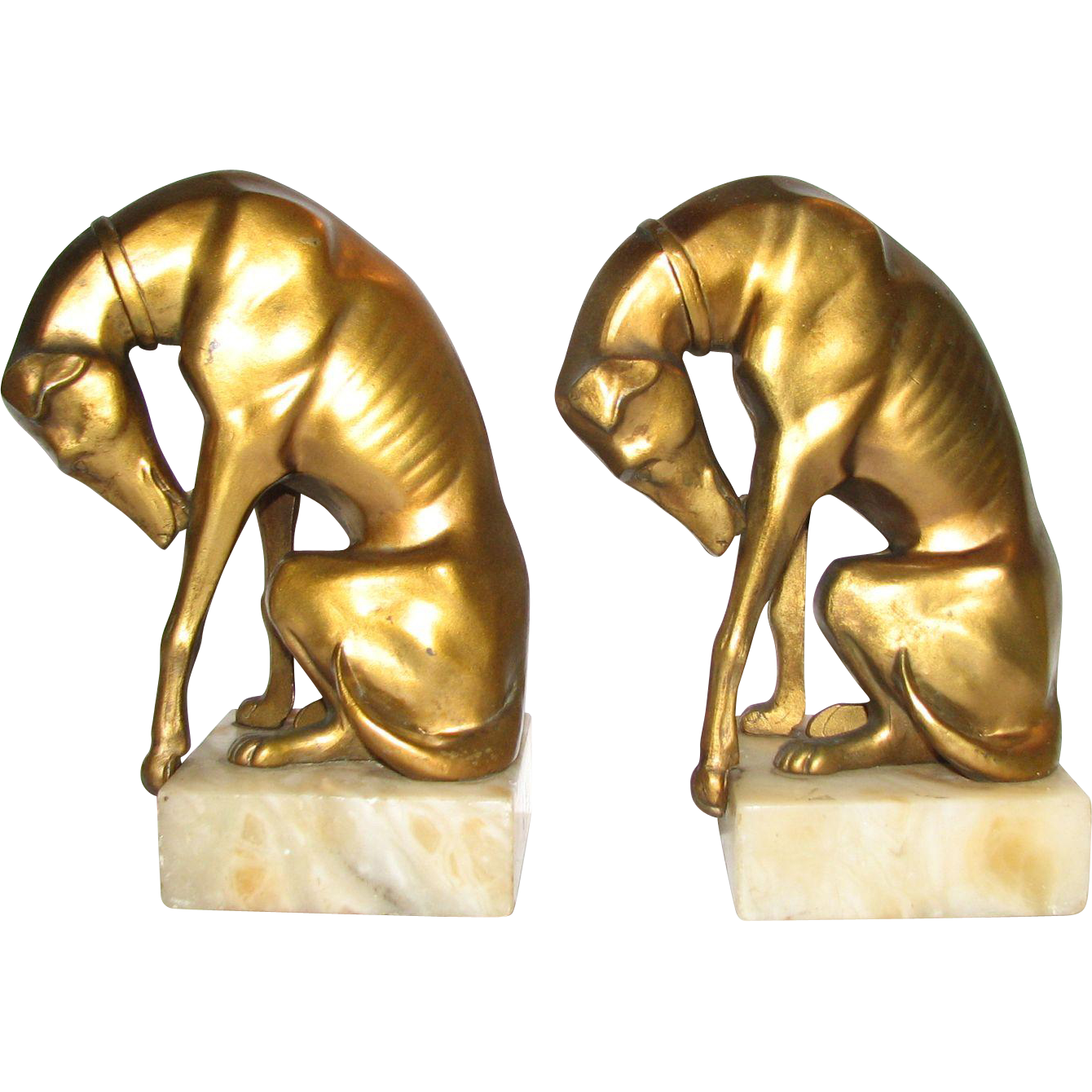 Greyhound Bookends Attr. JB Hirsch