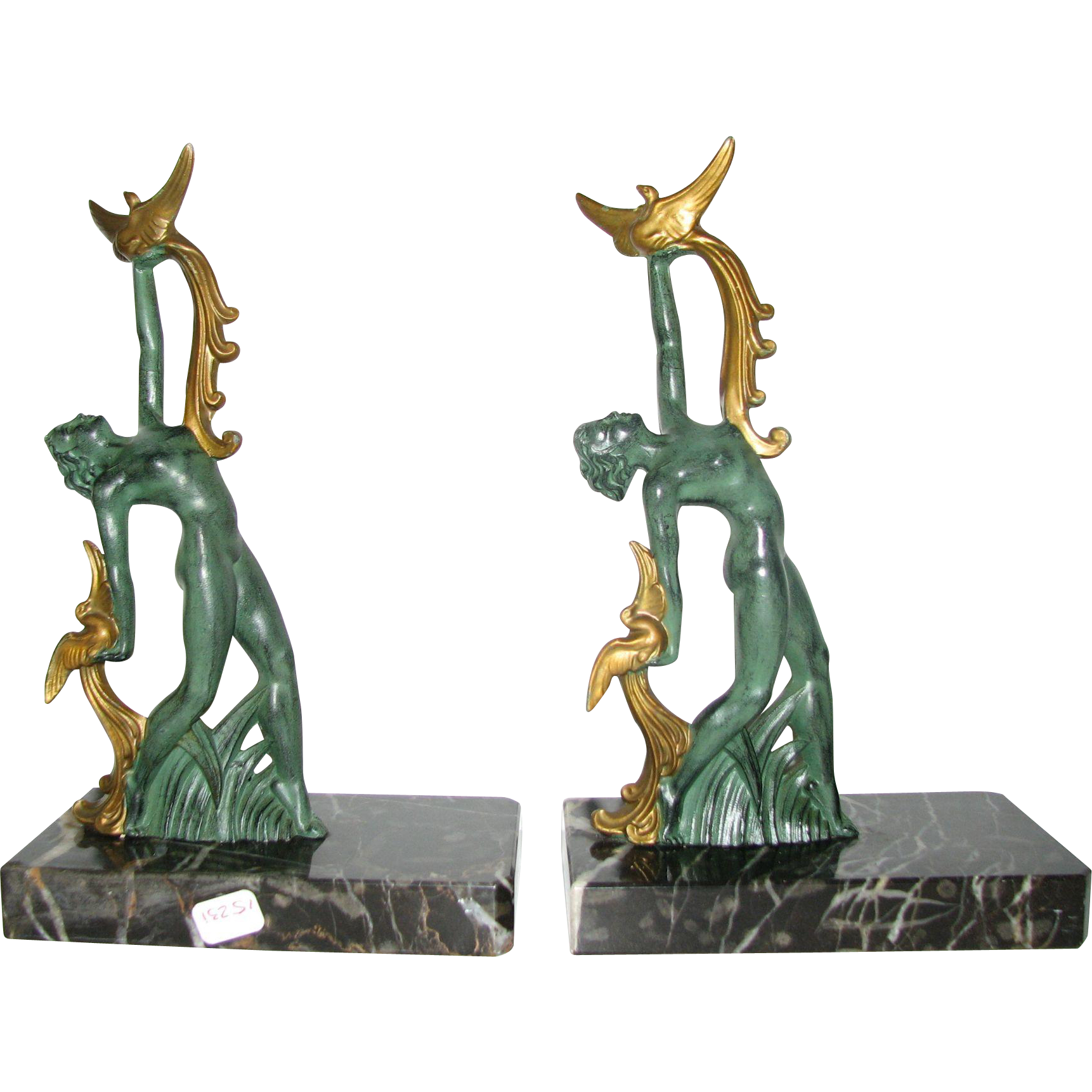 Phoenix Dancer Bookends From Justbookends On Ruby Lane