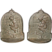 Jack Jump Over the Candlestick Bookends by Connecticut Foundry