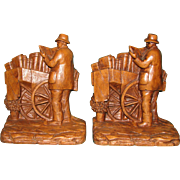Old Time Library Bookends by Syroco