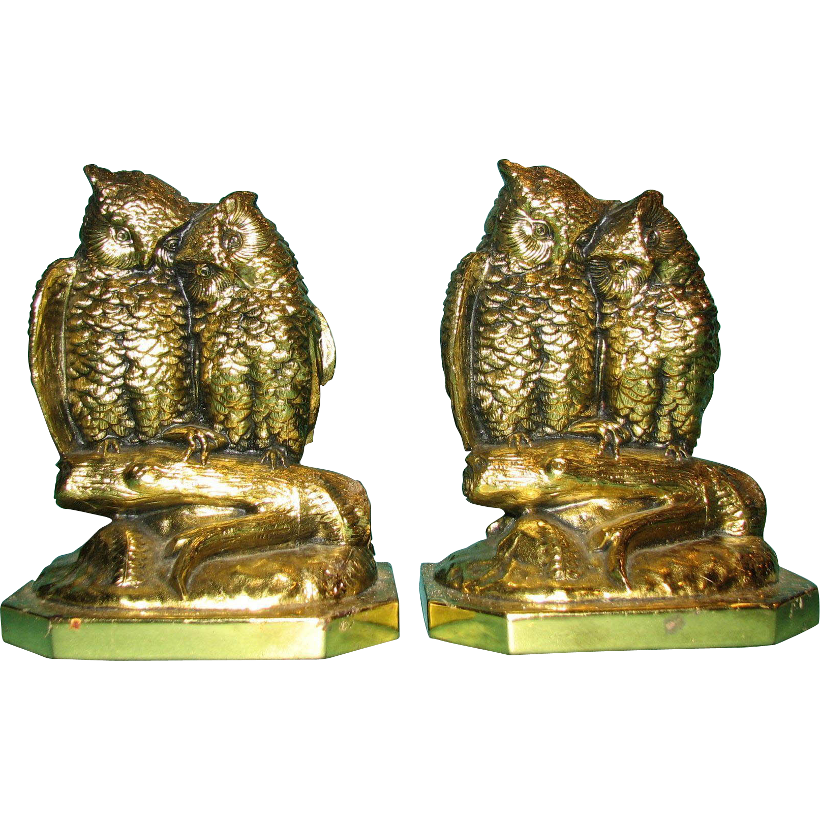 Owl Couple Bookends by Jennings Brothers