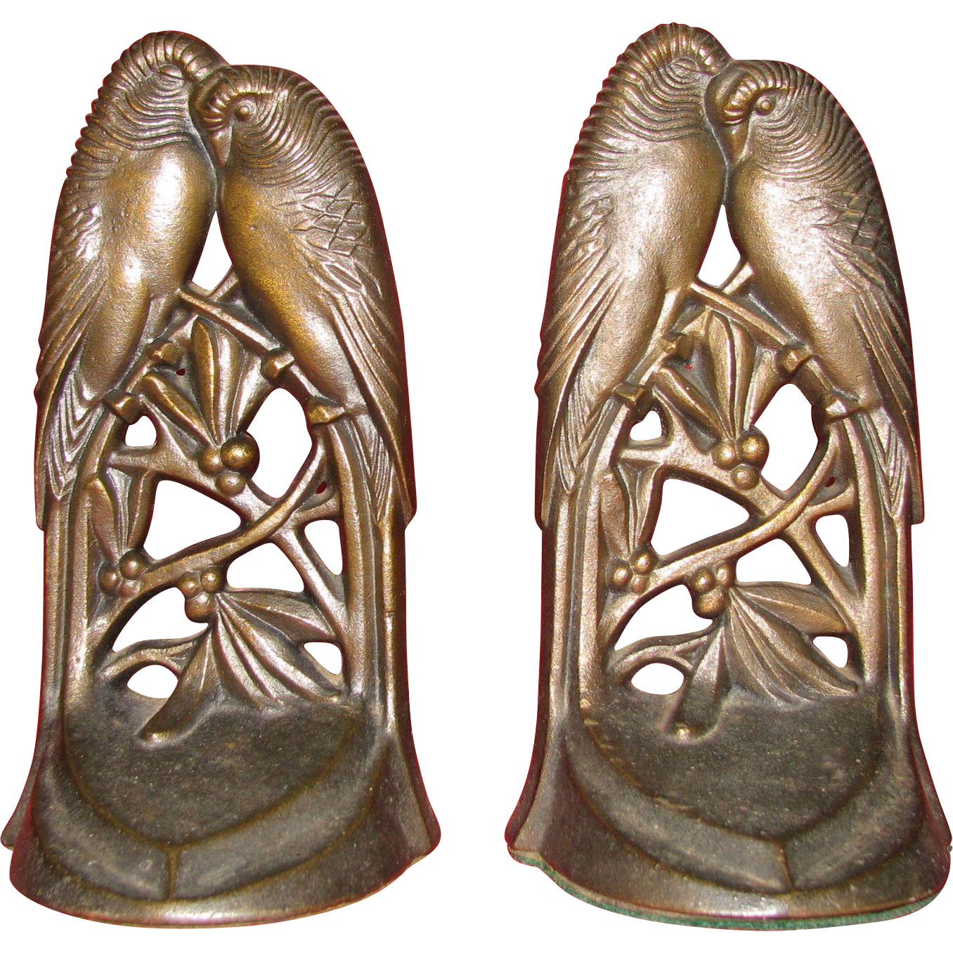 Lovebirds whispering bookends by acorn company from for Jewelry engraving gainesville fl