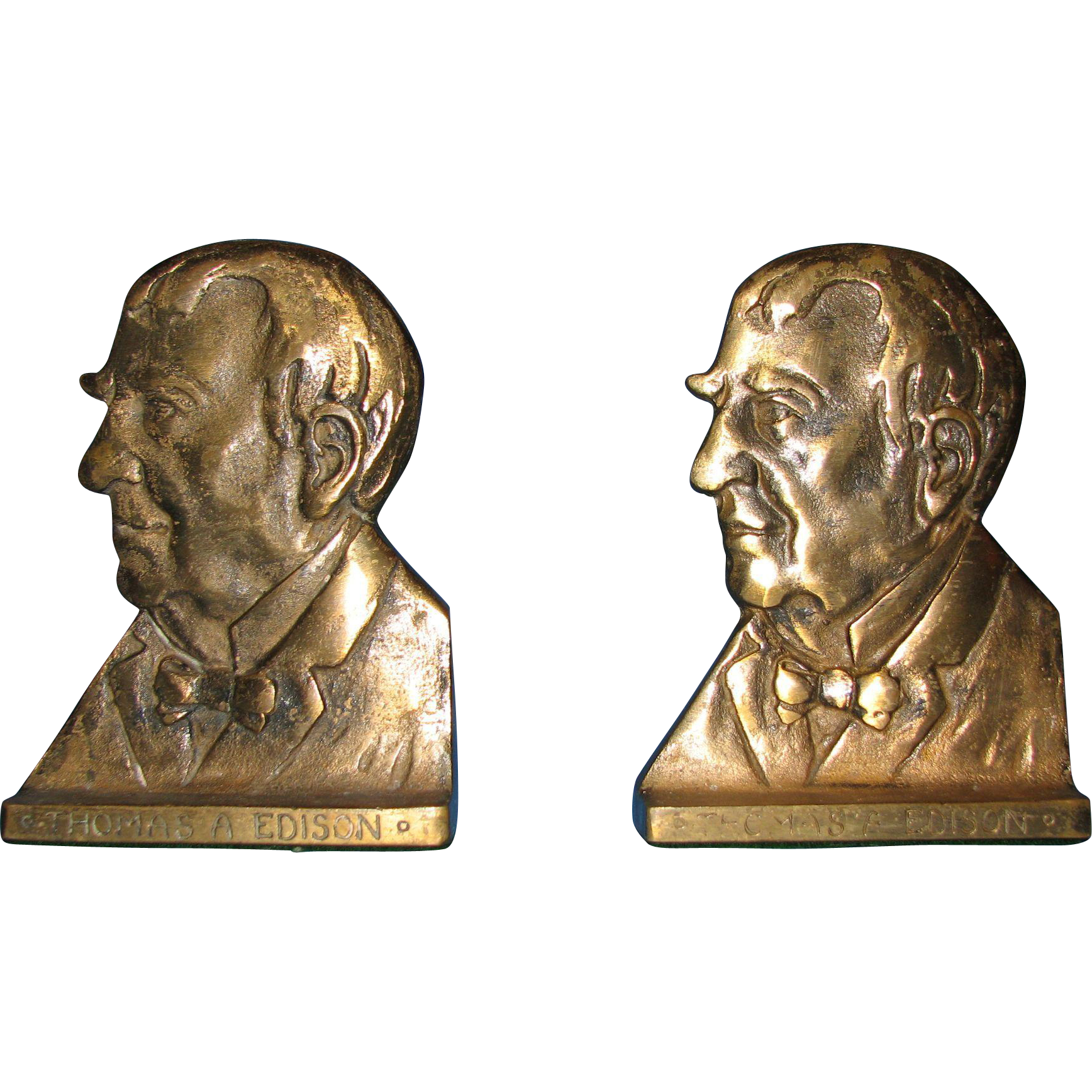 Thomas A Edison Bookends