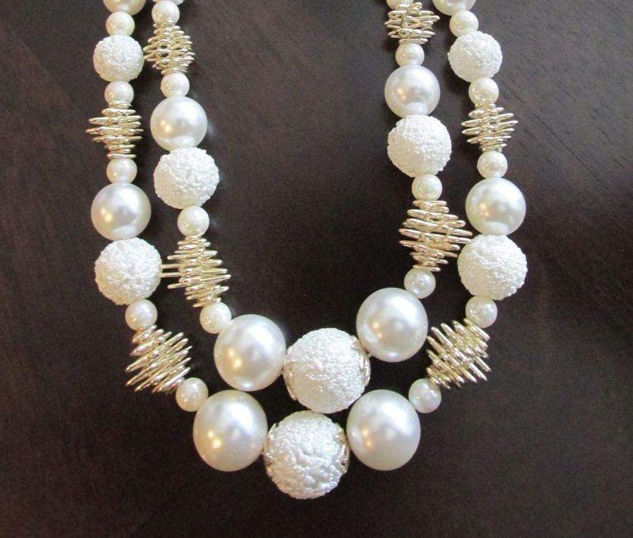 Winter White Fabulous Faux Pearl and Snowball Pearl ...