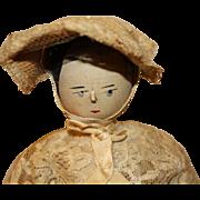 Antique Peg Wooden Doll