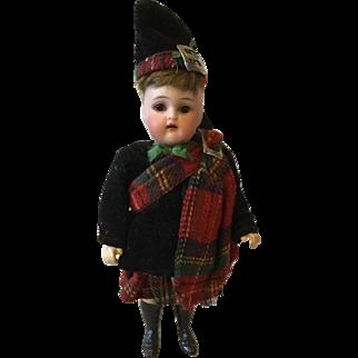 S & H K*R Minature Scottish Doll