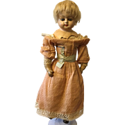 Wax over composition doll