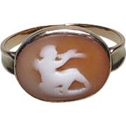Georgian Gold Pan Cameo Ring