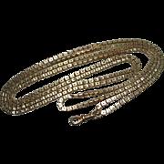 Victorian Pinchbeck Star Cut Box Link Muff Chain