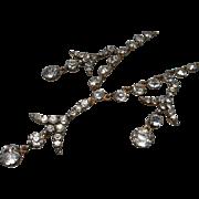 Victorian Gilt Paste Pendant Necklace