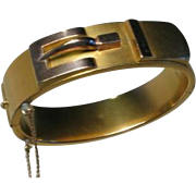 Victorian Rolled Gold Buckle Bracelet