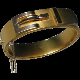 Victorian Rolled Gold Buckle Bracelet