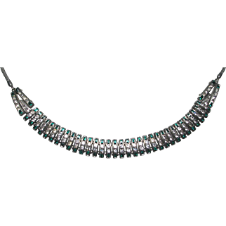 Art Deco Germany DoSo Diamante Channel Set Necklace
