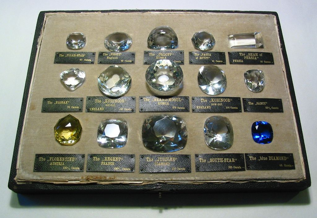 Rare Antique Historic Diamonds Paste Replicas Jewellery Display Collection