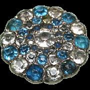 Georgian Black Dot Paste Lace Brooch c1820
