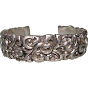 Antique Chinese Silver Cuff Bracelet