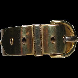 Victorian 9ct Gold Buckle Bracelet, Bangle, Aesthetic Era