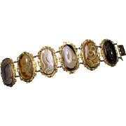 Antique Georgian Pinchbeck Agate Bracelet