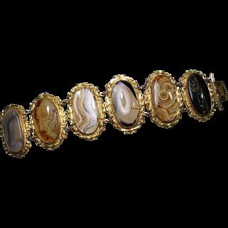 Antique Georgian Pinchbeck Agate Bracelet