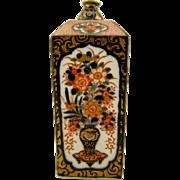 """SIGNED Koransha 7"""" late Edo - early Meiji antique Japanese hand painted Imari sake bottle vase"""