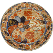 """Antique C.1860 late Edo - early Meiji Period Large 18"""" Japanese hand painted Imari charger plate"""