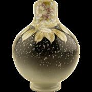"7"" Meiji Period Japanese antique hand painted studio ware Sakura Blossom vase"