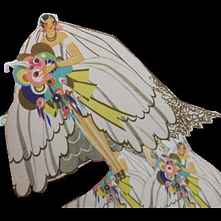 Adorable Vintage Ephemera 7 Bridal Bride Bridge Tally Tags Shower Scrap Book Craft Buzza Co Craftacres Paper Collectible