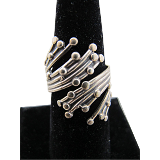 Vintage Beau Sterling Silver Wrap Ring