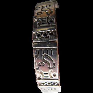 Vintage Heavy 47 grams Mexico Sterling Silver Bracelet