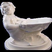 Vintage Royal Worcester White Mermaid / Merman Salt or Presentation Dish #349 - Red Tag Sale Item