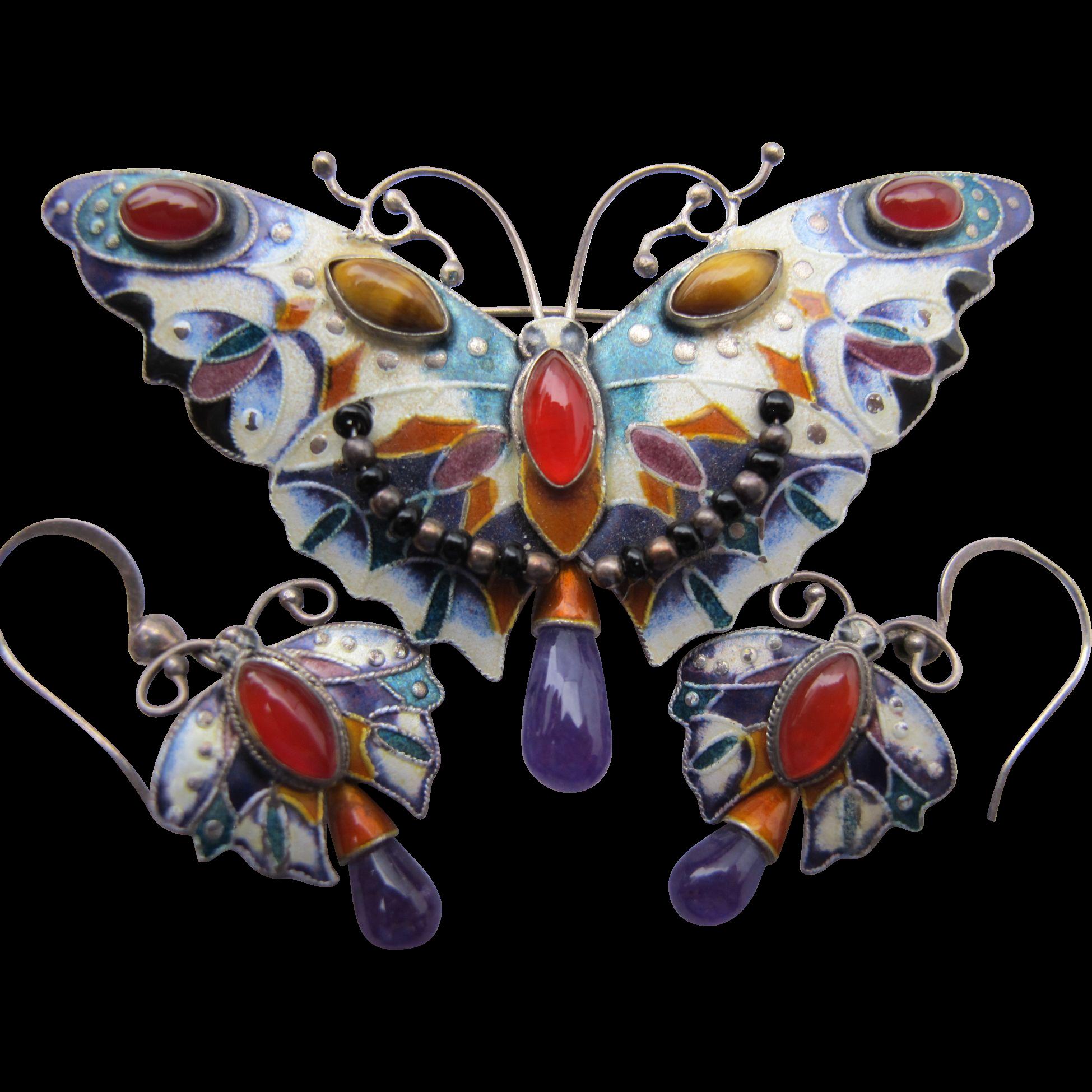 Vintage Enamel Butterfly 78