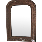 Antique French  Mantle Mirror With Decorative Gold Detailing