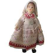 Vintage Miniature Erna Meyer Cloth German Folk Doll in Rare Costume