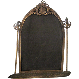 Old French Victorian Gothic Ormolu Decorative Picture Frame